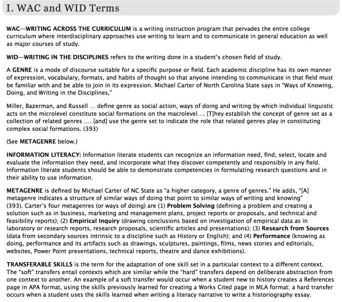 ASU Glossary for Blog