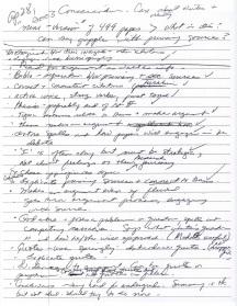 April 29, 2003 Handwritten note